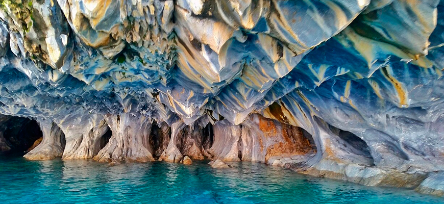 Lago general carrera capillas de marmol mto tour chile for Precio del marmol en chile